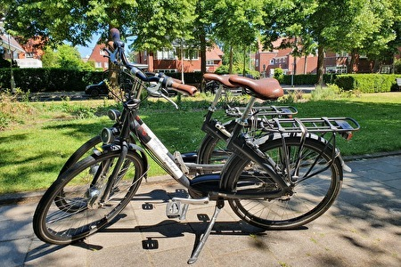 Detail bicycle rent