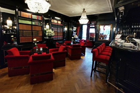 Library bar with chairs